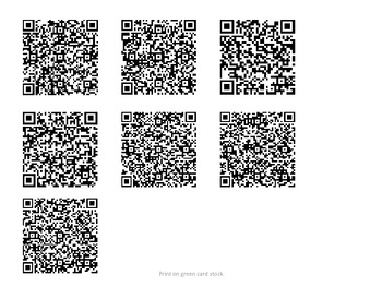 Genre Review QR Codes - Classroom or Elementary Media Center (Tic Tac Toe Game)