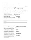 Genre Review Worksheet