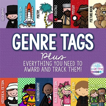 Genre Brag Tags PLUS Everything Needed for Classroom Implementation