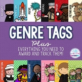 Genre Brag Tags PLUS Everything Needed for Classroom Imple