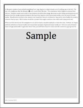 Genre  Science Fiction / Creative Mixed Media Poster Activity CCSS Based