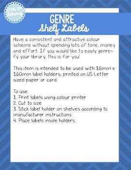Genre Shelf Labels - 16mm - US Letter Paper