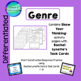 Genre Constructed Response Practice- Show Your Thinking™ / R.L. Task Cards 1-8
