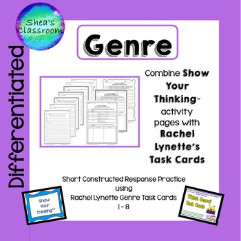 Genre Short Constructed Response - Show Your Thinking™  Cards 1-8