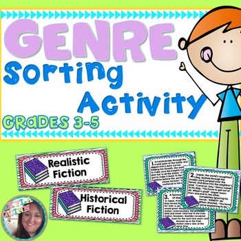 Genre Practice Sort Read a Paragraph Pick a Genre Sorting Activity Grades 4 - 5