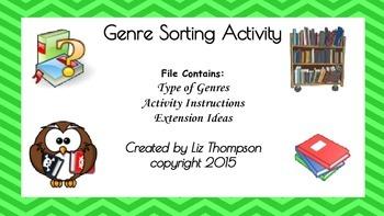 Genre Sorting Activity