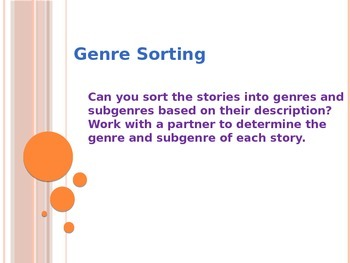 Genre Sorting Powerpoint