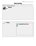 Genre Sorting Recording sheet
