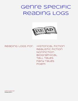 Genre Specific Reading Logs