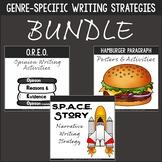 Writing Strategies Bundle - Narrative, Opinion, Informative