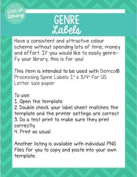 "Genre Spine Labels - Graphic Novel - Demco Processing Spine Labels 1""x3/4"""