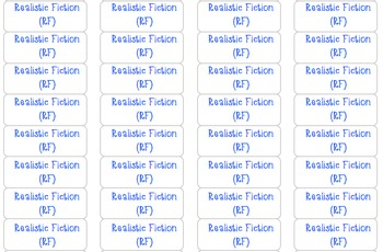 Genre Stickers for Classroom Library
