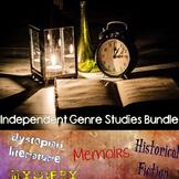 Genre Study Bundle - Dystopias, Memoirs, Mysteries, & Historical Fiction