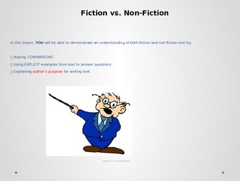 Genre Study:  Fiction vs. Non Fiction