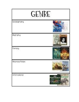 Genre Study Graphic Organizer