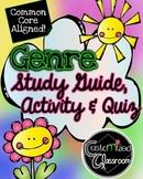 Genre Study Guide, Activity, Rubric, and Quiz! 3rd Grade C