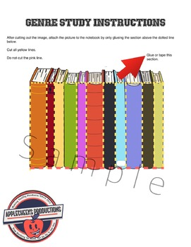 Genre Study Interactive Notebook Activity (Flaps)