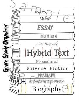 Genre Study Interactive Notebook Activity (Flaps)