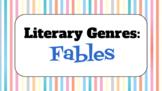 Genre Study Lesson: Fable