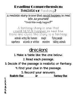 Genre Study: Realism or Fantasy?