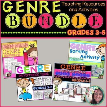 Genre BUNDLE: Printables,Performance Tasks,Sort Activity,DI Task Cards