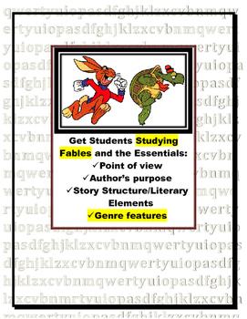 Fable Study Response Pages For Analyzing Fable (fantasy or folklore)