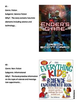 Genre & Subgenre - Identifying Activity