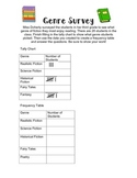 Genre Survey: Use a tally chart and frequency table