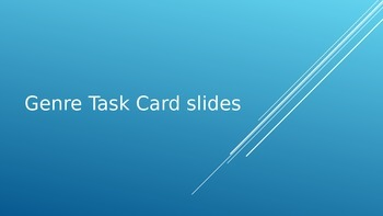 Genre Task Card Powerpoint for Daily 5 Stations and DIY for PBL