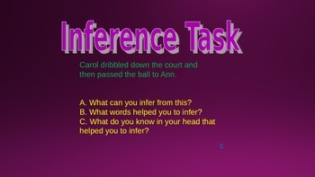 Inference Task Card Powerpoint for Daily 5 Stations and DIY for PBL