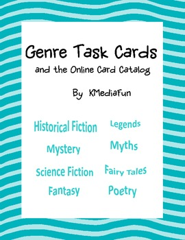 Genre Task Cards and Using the Online Card Catalog by KMediaFun