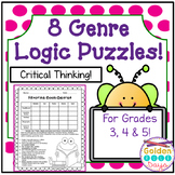 Genre Themed Logic Puzzles Grades 3, 4, 5  Critical Thinking!