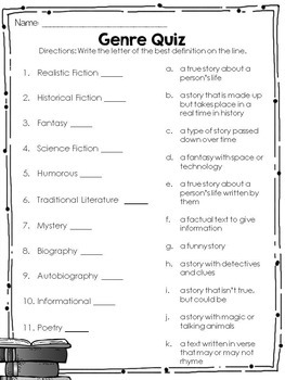 Genre Study Unit - Posters, Lessons, Activities, & and Assessment