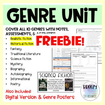 Genre Unit FREEBIE - Realistic & Historical Fiction Lessons