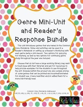 Genre Unit and Reading Journal Bundle