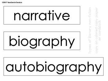 Genre Wall Posters Graphic Organizer B&W