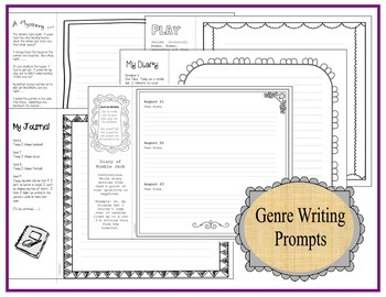 Genre Wheel; Graphic Organizers & Writing Prompts