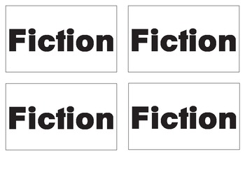 Genre and Sub-Genre Classification Cards