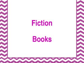Genre labels for book bins