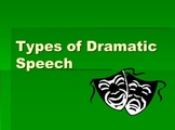 Genre of Drama--Types of Dramatic Speech