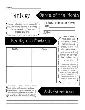 Genre of the Month 12 Mini Book Reports