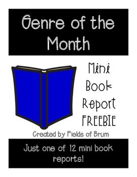 Genre of the Month Mini Book Report Realistic Fiction FREEBIE