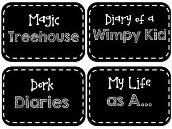 Genre/Author/Series Library Labels