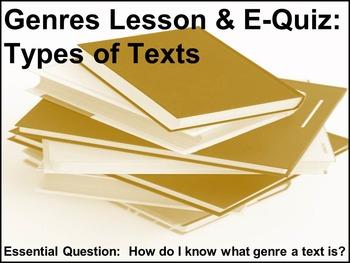 Genres: A Powerpoint Presentation & E-Quiz