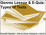 Genres: A Powerpoint Presentation & E-Quiz