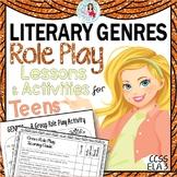 Genres Activities - Role Play & Word Scramble English Language Arts Editable