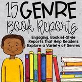 15 Genre Book Reports | Genre Activities