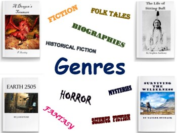 Genres Lesson Flashcards Game - flashcards, study guide, game