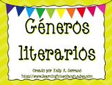 Genres Posters in Spanish PLUS PPT / Géneros de literatura y PPT