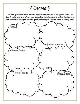 Genres Scholastic Book Order Activity